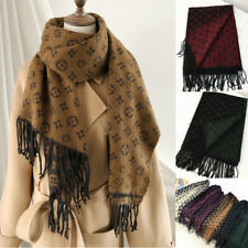 Womens Knit Scarf Designer Winter Cape Shawl Khaki Thick Wrap Pashmina UK Size