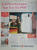 1940 General Electric GE Refrigerator Spacious The Peoples Choice Print Ad