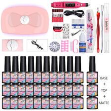MAD DOLL 30 Bottles/set UV Gel Polish UV LED Lamp Nail Art File Brush Tool Kit