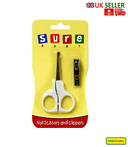 Sure Baby Childrens Round Tip Safety Manicure Nail Scissors and Clipper Care Kit