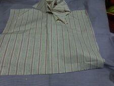 lot  patchork ,,les tissus coton  fines rayures  bleues et vertes