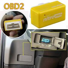 Nitro OBD2 Chip Tuning Box Petrol Car Power Engine ECU Remap Performance Yellow