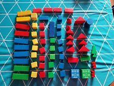 HOLZBAUKLÖTZE   Bausteine Baby Kind Klötzchen Spielzeug 62 Teile