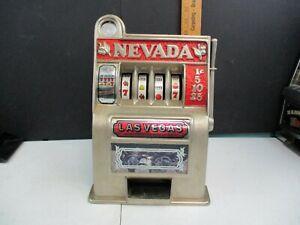 Vintage Nevada Las Vegas Slot Machine Bank
