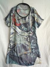 Hussein Chalayan printed silk tunic dress size I46 size EU 42
