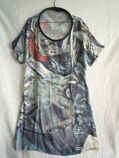 Hussein Chalayan printed silk tunic dress size I46 size EU 42