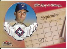 Alex Rodriguez 2002 Fleer Tradition This Day In History #9 Texas Rangers
