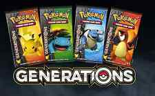 EACH ARTWORK POKEMON TCG~4X GENERATIONS BOOSTER PACK  FACTORY SEALED
