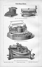 Schreibmaschinen  Yost Hammond Kosmopolit Schreibmaschine Holzstich 1897