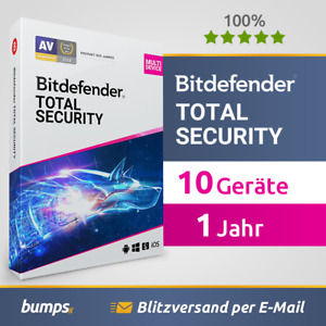 Bitdefender Total Security 2021 – 10 Geräte (Win, Mac, Android & iOS) | 1 Jahr