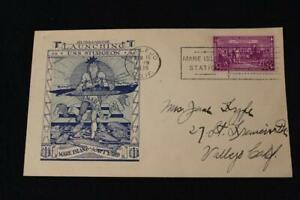 NAVAL COVER 1938 SLOGAN CANCEL LAUNCHING USS STURGEON (SS-187) (5514)