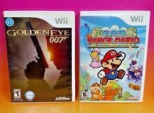 GoldenEye 007 + Super Paper Mario - Nintendo Wii and Wii U Games Complete Rare