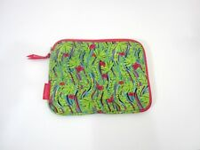 """Lily Pulitzer Neoprene iPad Tech Sleeve Case Green Floral Fits a 10"""" Device"""