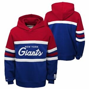 Mitchell & Ness NFL Football Youth (8-20) New York Giants Head Coach Hoodie