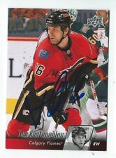Tom Kostopoulos Signed 2010/11 Upper Deck Card #279