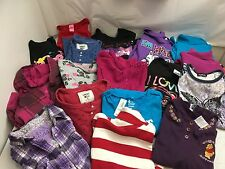 EUC  GIRLS MIXED LOT 17 PCS SIZE 10/12 GREAT NAMES TOPS SWEATSHIRTS #95