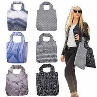 STYLISH FOLDABLE SHOPPING BAG - Reusable Eco Grocery Storage Tote Handbag **NEW*