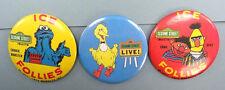 Vintage 1971 Sesame Street Ice Follies button lot & Sesame Street Live! button