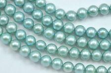 Perline sfuse di gemma verde rotondi