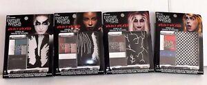 Fantasy Makers Make-Up Costume Stencils Wet & Wild Wicked Cosmetics Halloween