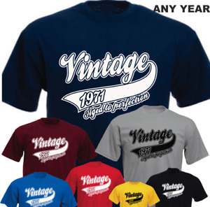Vintage 50th Birthday 1971 Aged To Perfection New Birthday Gift T-shirt Made In