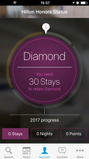 Hilton Diamond Status (90 days trial , can be extended to Mar 2019)