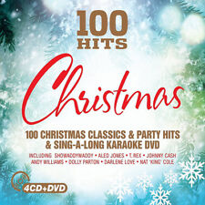100 HITS CHRISTMAS (2015) 100-track 4xCD + DVD set NEW/SEALED Karaoke Xmas