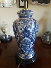 Blue, White & Gold Ginger Jar Lamp Base