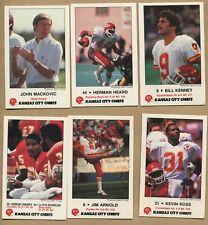 1985, Kansas City Chiefs, 10 Card Set, Police, Frito Lay, 16522