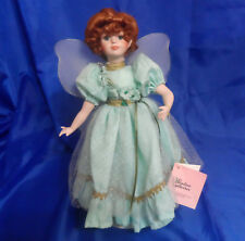 """Shannon The Shamrock Fairy 14"""" Porcelain Doll from Paradise Galleries 1993"""