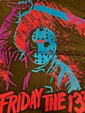 JASON WITH MACHETE - T-SHIRT - BRAND NEW & LICENSED - FRIDAY THE 13TH 72-301-356
