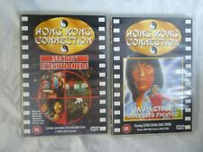 HONG KONG CONNECTION DVDs x 2 Secret Executioners & Invincible Obsessed Fighter