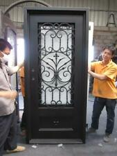 Beautiful Estate Heavy Good R Rated Iron Entry Door With Safety Glass - S17