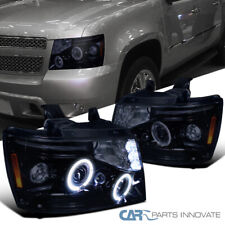 Glossy Black For 2007-2013 Avalanche Suburban Pickup Tahoe Projector Headlights