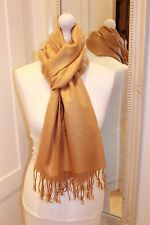 Gold Pashmina Silk Shawl Scarf Wrap Fine Knit Handmade Gift Summer Wedding Soft