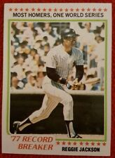 1978 REGGIE JACKSON YANKEES RECORD BREAKER TOPPS BASEBALL TRADING CARD #7 MT/NM