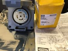 (5.2)Hubbell Twist Lock 30A 120/208V 4 Pole HBL2810SW watertight wall/ box mount