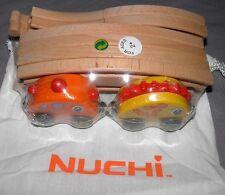 Nuchi Wooden Train Dinosaur Railway with Track Beginner Set NIP BONUS BUTTERFLY