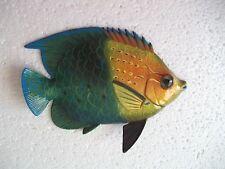 Tropical Fish Wall Plaque Tiki Bar Beach Pool Nautical Decor Size 6 inch TFW11