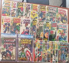 CAPTAIN AMERICA #100 -125 Complete Run CGC 8.5 117 1st FALCON 26 Issues 1968-70