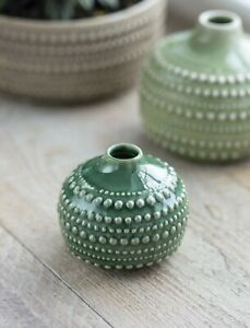 Small Ceramic Castello Bottle Stem Vase, Bulb Bottle