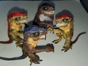 Lot x4 Vintage 1998 Trendmasters Baby Godzilla Figure Toho Kaiju Monster Toy EX