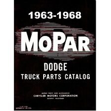 Factory MoPar Parts Manual for 1963-1968 Dodge Trucks