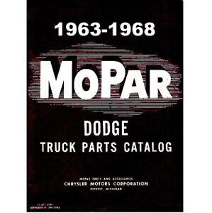 Factory MoPar Parts Manual for 1963-1968 Dodge Trucks