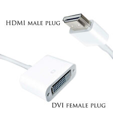 HDMI Male to Female DVI Converter Adapter Plug  for Projector Laptops Monitors
