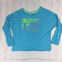Lane Bryant Active Womens Shirt Size 14/16 Long Dolman Sleeve Inspire Love
