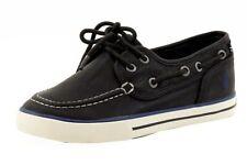 Nautica Boy's Spinnaker Black Pintuck Oxfords Boat Shoes