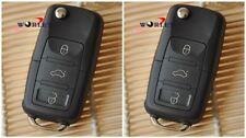2pcs FOR VW VOLKSWAGEN FLIP KEY REMOTE FOB SHELL CASE GOLF PASSAT Jetta Beetle