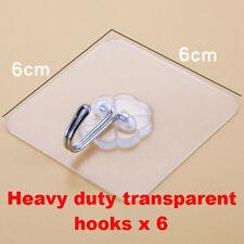 Heavy duty transparent hooks all purpose ,Bathroom,Kitchen,Office,bedroom x 8