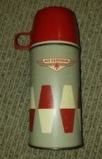 Vintage Ace Hardware THERMOS Pint Size 10z Glass Vacuum Bottle Stopper & Cup/Lid